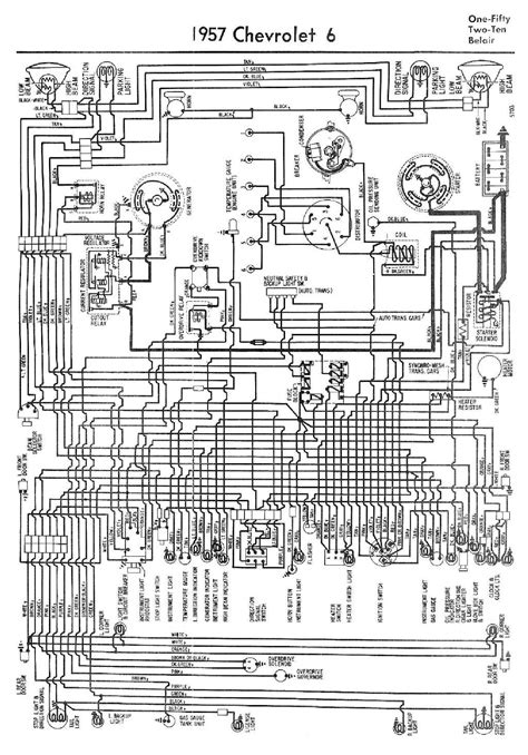 complete wiring diagram for 1957 chevrolet 6 one fifty