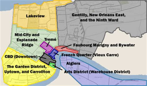 sections of new orleans new orleans neighborhood map
