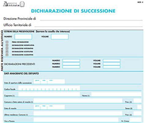 successione banca denuncia di successione modello 4 editabile
