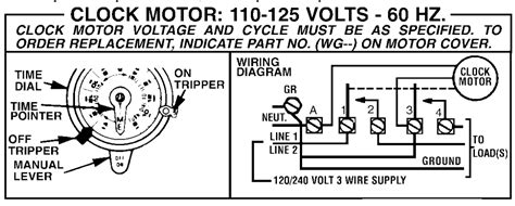 i a t103 mechanical time switch the wiring diagram