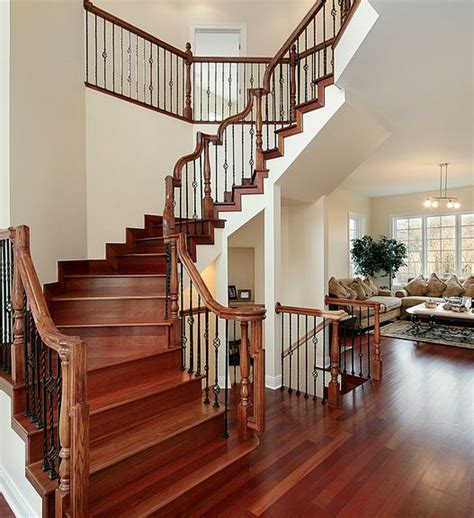 types  foyers  design ideas    wood staircase entrance