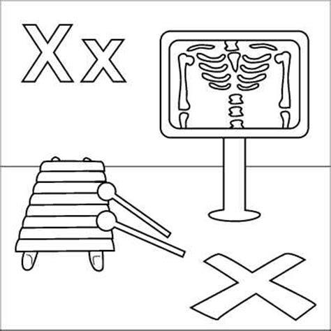 letter x coloring page x ray xylophone quot x quot marks the