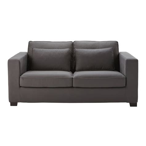 slate grey sofa bed 3 seater cotton sofa bed in slate grey mattress 6 cm