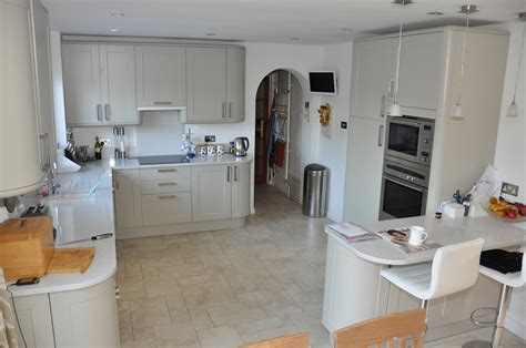 Howdens Kitchen Planner by Howdens Burford Grey With Light Surfaces And Floor