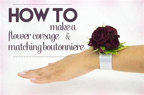 Learn How To Diy A Corsage by How To Make A Corsage And Matching Boutonniereflower Press