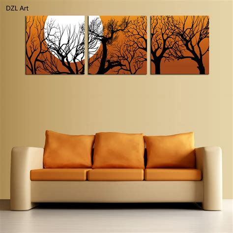 cheap home wall decor aliexpress buy unframed 3 sets canvas painting moon