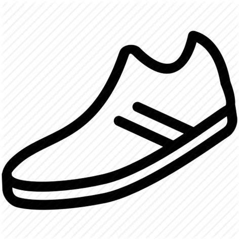 running shoe icon iconfinder thin sports fitness by picons me