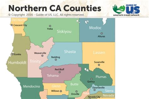 county map northern california northern california counties images