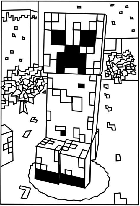 Creeper Coloring Pages free coloring pages of mob minecraft
