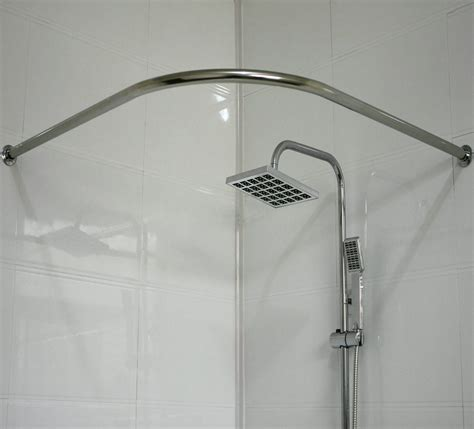 c shaped shower curtain rod best stainless steel shower curtain rods gallery bathtub
