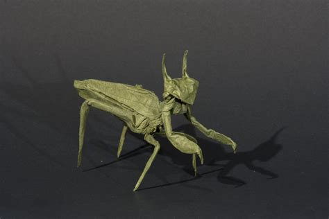 praying mantis origami origami origamido praying mantis by kamiwasa on deviantart