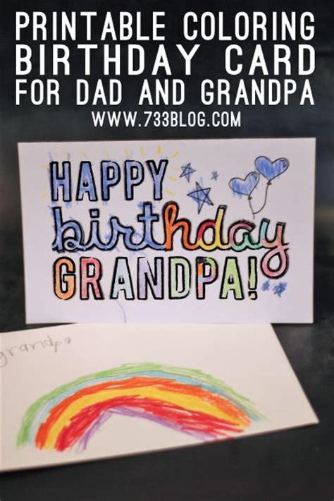 printable birthday cards for grandpa dad grandpa printable coloring birthday cards dads free