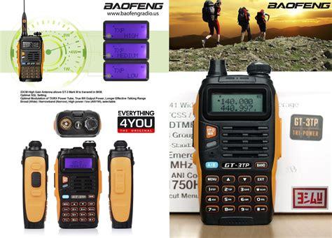 Baofeng Gt 3tp Dual Band by Jual Baofeng Gt 3tp Iii Gt Dual Band 8w Waterproof