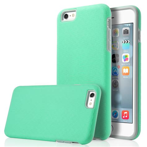 Iphone 5 Iphone 6 Iphone 6 Rubber shockproof hybrid rubber pc dual layer cover for iphone 6 6s plus