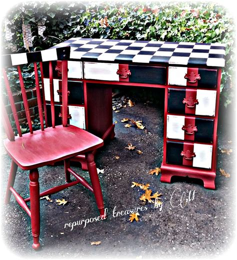 painted chair ideas dreaming of june desk painted into boys checkered hometalk