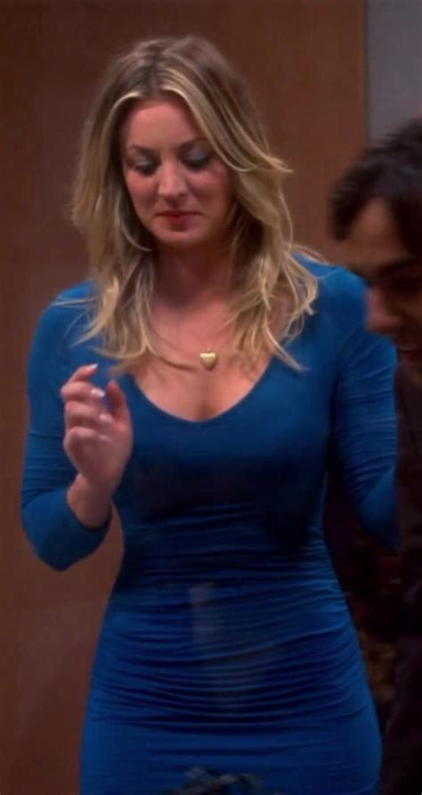 bbt pennys hairstyle in vegas kaley cuoco looks amazing in this blue dress on the big