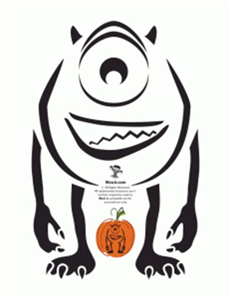 mike wazowski pumpkin template pumpkin stencils disney pumpkin carving patterns woo