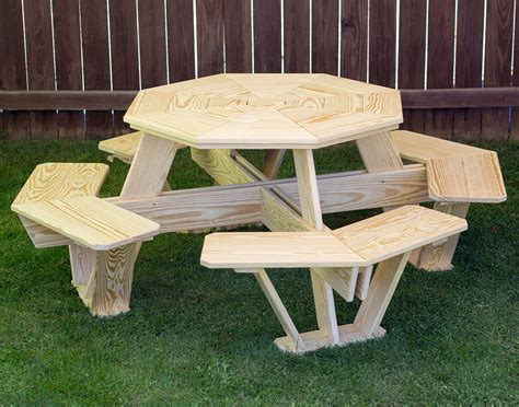 treated pine kids octagon picnic table
