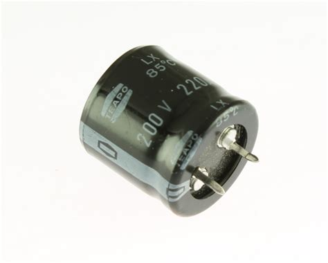 capacitor 220uf 200v lx200mo220a14 teapo capacitor 220uf 200v aluminum electrolytic snap in 2020031695