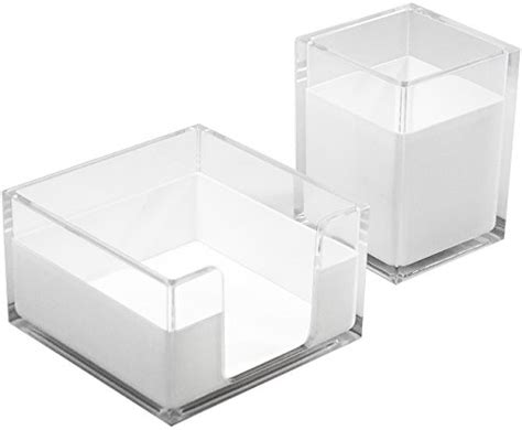 Sorbus Acrylic Desk Organizers Set 3 Piece Includes Acrylic Desk Organizer Set