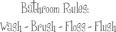 bathroom rules decal bathroom rules bath