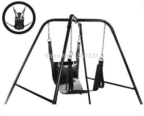 Sex hammock sex swing chair leather bed adult game sex toy indoor chaise sale on furniture from