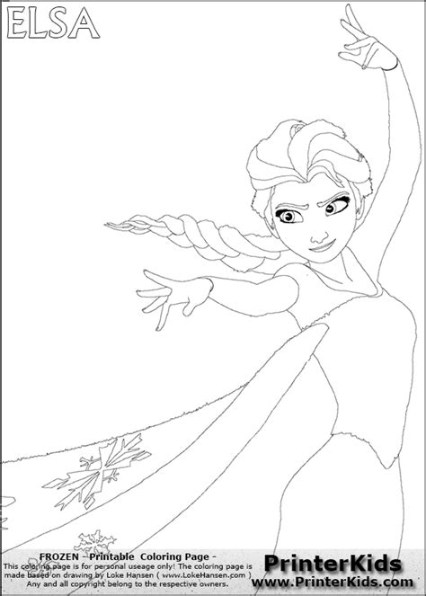 Disney Frozen Elsa Free Colouring Pages Disney Frozen Coloring Pages For Elsa Free