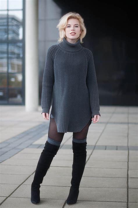 Overall Maxi Skirt Velvet Series 8099 5 Manieren Om Knee Boots Te Combineren Styletoday