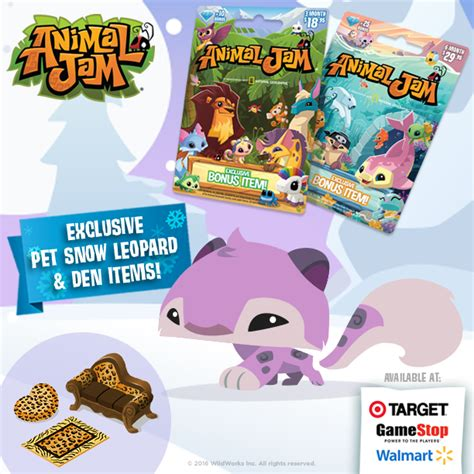 retail card bonus pet snow leopard the daily explorer - Where Can I Buy Animal Jam Gift Cards