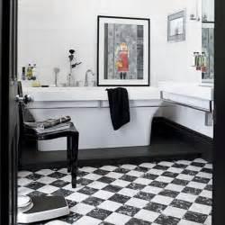 black white bath