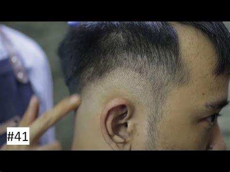 potongan rambut pria  jidat lebar model rambut