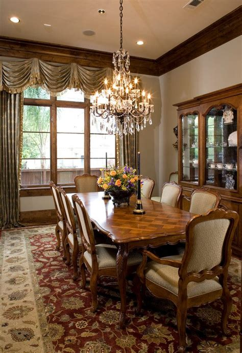 black chandelier dining room traditional with wood