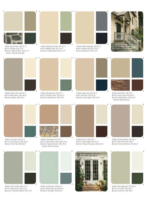 how to choose exterior paint color combinations set of beautiful natural colors ange s dollhouse