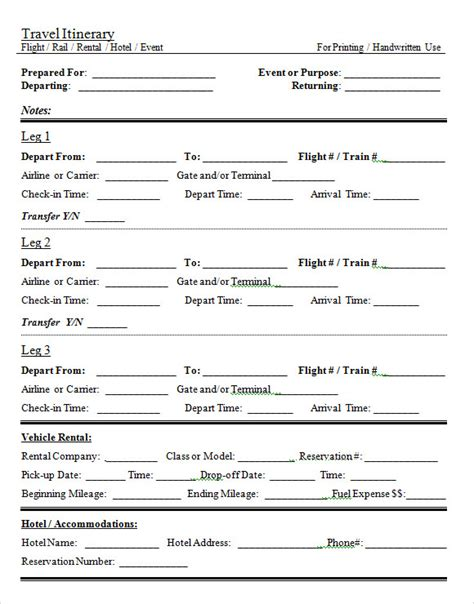 tour template travel itinerary template sanjonmotel