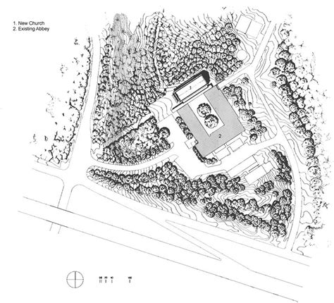 site plan studio 0202 gallery of cistercian abbey church cunningham architects
