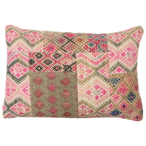 Patchwork Pillows - hill tribe patchwork pillow at 1stdibs