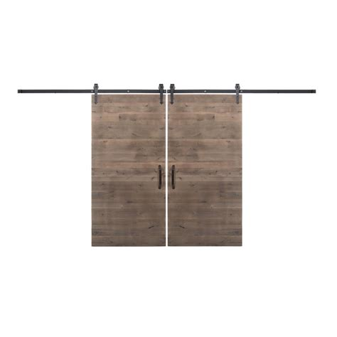 Home Depot Sliding Barn Door Rustica Hardware Bi Parting 42 In X 84 In Rustica Reclaimed Home Depot Gray Barn Doors With