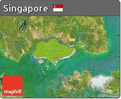 satellite map of singapore free physical map of singapore satellite outside