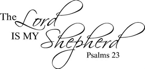 Wall Phrases Stickers the lord is my shepherd inspirational bible verse vinyl