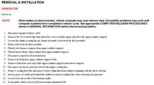 Kia Sedona Alternator Removal How To Remove Alternator On 2003 Sedona