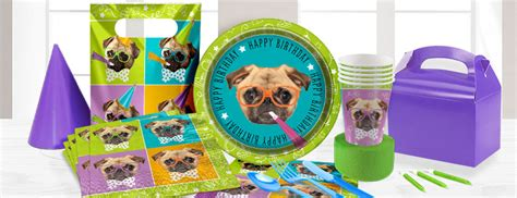 pug party supplies party delights