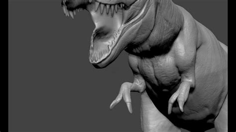 zbrush tutorial t rex zbrush speed sculpt t rex youtube