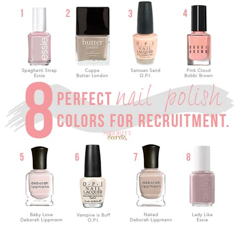 best nail polish colors for a working proffessional woman the sorority secrets 8 perfect nail polish colors for