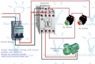 single phase motor wiring with contactor diagram electrical 4u