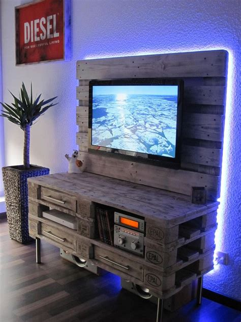Garden Bench Table by Recycled Pallet Tv Stand Plans Pallet Wood Projects