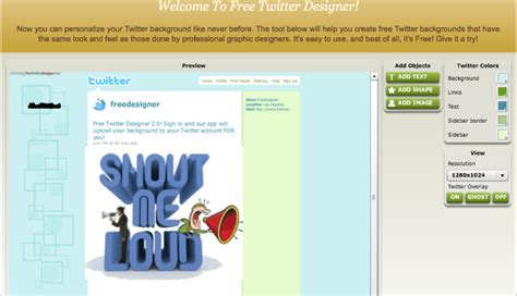 twitter layout creator design free twitter background with these free tools