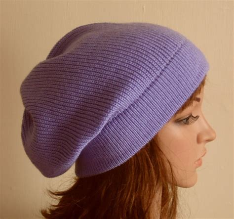 Handmade Knit Hats - knit beanie knitted slouchy hat handmade slouchy beanie