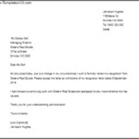 Sle Withdrawal Letter Of Resignation Withdrawing A Resignation Letter Sle Word Doc Sle Templates
