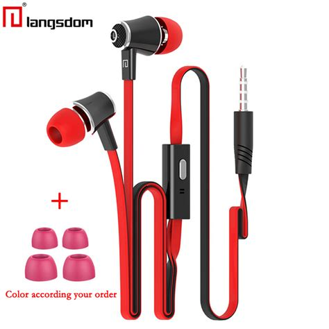 Headset Earphone Iphone Original original langsdom jm21 earphones with microphone bass 3 5mm earphone headset for iphone 6