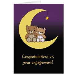 congratulations on your engagement bears card zazzle